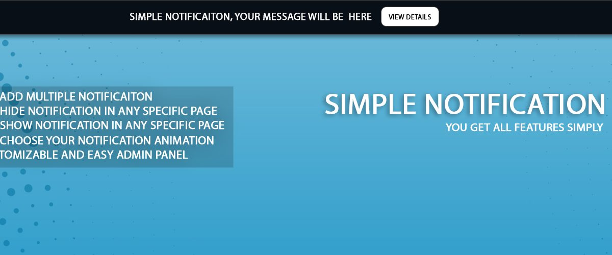 wordpress-simple-notification