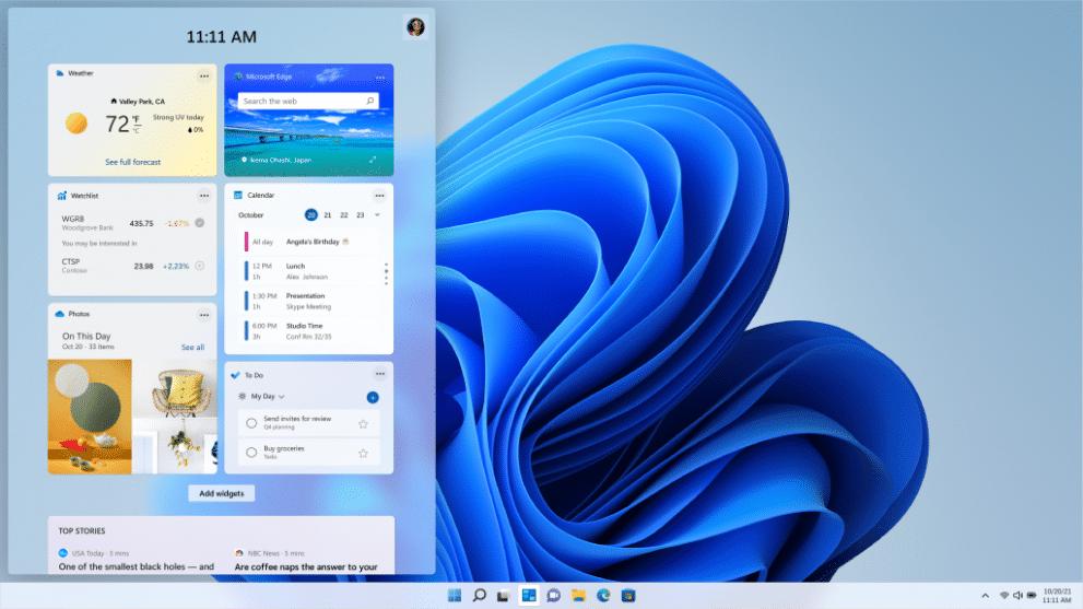 What is new in Windows 11? Best part and funcionalities of windows 11. - WIN Widgets Light Theme 16x9 en US 1 1024x576 1